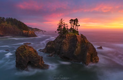 Symphony in Red (Sairam Sundaresan) Tags: wideangle landscape sunset nature outdoor finished sairamsundaresan oregon samuelboardman sonyalpha sonya7rii sky color samuelboardmanstatepark coast wilderness colors