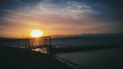 sunset galaxy s4 (omarmoichihigakimoyano) Tags: puestasdesol clouds blue sunrise cloud orange horizon mas mar oceano playa anochecer atardecer cielo agua instasky