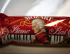 Music to my ears (13skies) Tags: mozart music chocolatebar eat snack different tasty sweet wrap theme