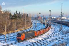 The salt train (cossie*bossie) Tags: ea3000 86017 86 017 db cargo bulgaria electric locomotive dsb henschel burgas freight train new year 2017