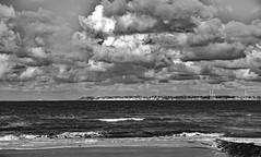 Estuaire de Seine.jpg (o.penet) Tags: elements bw estuary seine clouds le havre beach plage skies