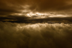 nightfall at altitude (ecstaticist - evanleeson.com) Tags: clouds night evening cloudscape flying aerial nature sunset light magic hour helijet