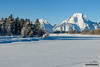 Frozen Oxbow Bend (kevin-palmer) Tags: grandtetonnationalpark nationalpark wyoming moran december newyearseve winter cold snowy snow white clear sunny sunshine blue sky mountmoran oxbowbend nikond750 tamron2470mmf28 snakeriver ice icy frigid