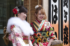 Seijin-no-hi (fredMin) Tags: coming age day ceremony portrait girls travel japan