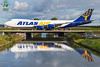 Atlas Air B747 (Green 14 Pictures) Tags: aviation avporn avgeek airport airplane aircraft air airline airlines airfield amsterdam ams airways atlas atlasair 5y gti n855gt boeing 747 7478f freigther freight cargo schiphol holland thenetherlands victor taxiway bridge reflections