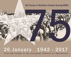 75th Anniversary of American troops arriving. January 26th 1942 - 2017 (G.I.N.I) Tags: usarmy magnetforce milburnhenke americanexpeditionaryforce aef eto unitedstatesarmy pollockdock dufferindock belfast belfastdocks harbour 1942 26january1942