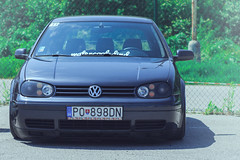 VW Golf Mk4 on air // TUNING SHOW AUTOSALN (Luky Rych) Tags: show b car vw canon golf 50mm mercedes benz punto fiat seat toledo mk2 pentacon f18 tuning passat rs f28 hala sls opel skoda octavia 135mm stance r32 vectra 2015 mk4 preov 100d autosaln 3sdm mestk