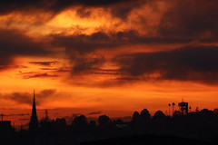 The roof, the roof is on fire (HIADA) Tags: city sunset shadow orange silhouette atardecer colombia manizales sunsets ciudad silouette negative cielo atardeceres silueta negativo caldas hiada fabricaatardeceres