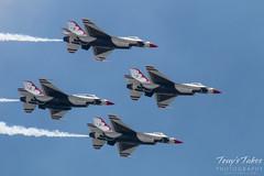 Air Force Thunderbirds four ship pass