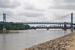 UP 6078 Clinton Iowa Mississippi River Bridges Loaded Coaltrain 7/1/15 (Poker2662) Tags: up river mississippi clinton bridges iowa loaded us30 7115 coaltrain 6078