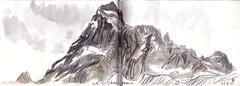 150605 Sirac 3440m (Vincent Desplanche) Tags: mountain montagne watercolor sketch aquarelle sketchbook ecrins neocolor croquis champsaur