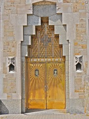 P1000078 (dwgibb) Tags: sculpture flower art church statue architecture oak shrine catholic little michigan mary jesus royal virgin nouveau coughlin crusifix bascilica