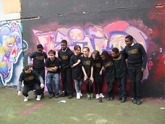Young people learning art in a graffiti way #paintedbrixton #biglocal #claphamfilmproject what a great time http://t.co/ZrsaOM2DWp