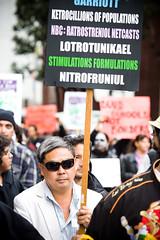 Lotrotunikael (Thomas Hawk) Tags: sanfrancisco california usa sunglasses unitedstates unitedstatesofamerica protest frankchu