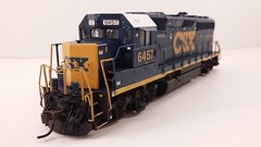CSX - MOTHER (Road Slug Power Unit) #6457 Dark Future Paint Scheme (Prototype Painted around April 2010) - GP40-2 (Conductors Front 3-4) - HO Scale - Atlas - July 29, 2015 - K. Crawley (dcmkris) Tags: atlas csx hoscale gp402 custompainted darkfuture