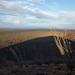 Sombra do Cono Mayo na planície abaixo