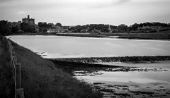 Warkworth, The River Coquet . (wayman2011) Tags: castles canon villages northumberland rivers warkworth lightroom weirs longexposures rivercoquet bwlandscapes canon50d bw110 wayman2011