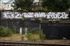 T32 / Suer / Bam / Aser (Alex Ellison) Tags: urban its graffiti boobs tag railway chrome graff aser 32 bam moral trackside northwestlondon opd t32 runch temp32
