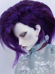 commission wig (SophyMolly) Tags: portrait head wig mohair bjd angora commission abjd undercut dollshe orijean