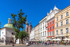 St. Adalbert (in the foreground) and St. Mary churches in the Main Square (Pawe Szczepaski) Tags: old travel roof sky people brick tower heritage history tourism church monument saint architecture tile square religious town ancient europe european view cross cathedral market basilica famous faith main mary religion poland krakow polish landmark tourist plaster medieval historic ornament dome historical crown catholicism krakw cracow turret lesser attraction relic adornment pl adalbert maopolskie