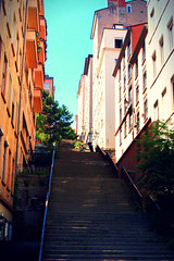 A Long Way Stairs (Alex-W.) Tags: old city trees up stairs buildings way lyon arbres ville chemin vieille quartier escaliers appartments habitations immeubles neightborhood appartements