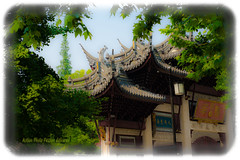 Longhua Temple Gate (actionphotopassion) Tags: china temple landscapes gate doors shanghai cityscapes dri hdr chine longhua longhuatemple digitalblending gateentrance