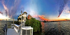 Stunning Cloud Nebula Dusk At Blessed Home Tampa Bay Florida - IMRAN™ (360° 4π IVR Panorama) (ImranAnwar) Tags: 2x1 360 2016 apollobeach beach beautiful boating clouds dock dusk florida geography gratitude gulfofmexico history imran imrananwar iphone iphone7plus jetski life lifestyle marine miracle nature night ocean orange outdoors panorama pastel philosophy photoshop pink realestate red seasons sky spherical sun sunset symphonyisles tampa tampabay travel water waverunner winter yachting yamaha yellow