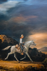 Cowboy (Serendigity) Tags: lincoln wildwest art museum usa painting unitedstates historic town newmexico