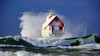 Christmas Storm in Grand Haven (12 20 2016) (PhotoDocGVSU) Tags: storm gale winter waves lakemichigan grandhavenmi greatlakes lighthouse ice canon5d3 sigma50500os bigma