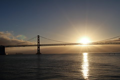 2017.01.01 7:58AM, Bay Bridge, San Francisco, USA (joonhyunglim) Tags: newyear new year sunrise sun rise 2017 morning bridge sanfrancisco sf bayarea bay landscape sea ocean baybridge