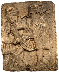 Pompeii-type gladius (The Armatura Press) Tags: legionary roman gladius shield pilum mainz pedestal column base sculpture relief
