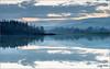 Lago delle Grazie - scende la sera (Luigi Alesi) Tags: 201612dicembre marche tolentino italia italy macerata lago delle grazie lake dopo il tramonto after sunset riflessi reflections mirror paesagio landscape scenery natua nature cielo sky nuvole clouds foschie misty nikon d750 raw
