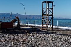 Deserted Maleme beach, Christmas