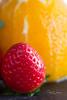 Juicy (IMG_0754-2) (JRCmoreno) Tags: oranges orangepeeled yellow strawberry red fruits berries salad fruitsalad crackers macro green purple sprouts juicy naturallight