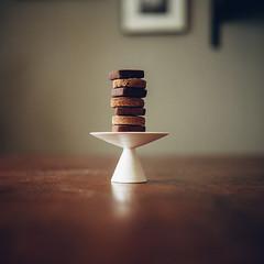 Cookie tower 7!!!!!!! (miki**) Tags: 120 rolleiflex35f rolleinar2 cookie anniversary 7th