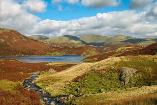 Easedale Tarn above Grasmere, Lake District.