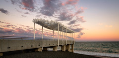 Cloud catcher (lizcaldwell72) Tags: hawkesbay newzealand sunset napier cloud water viewingplatform sky light