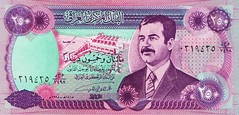 "Helicopter Money / Iraq - Saddam / ""Big Bucks"" (ramalama_22) Tags: gulf war mid east middle iran iraq ayatollah khomeini saddam hussein george bush pysch ops inflation social unrest helicopter money replica fake countefeit currency central bank great dam environmental damage green ebay"