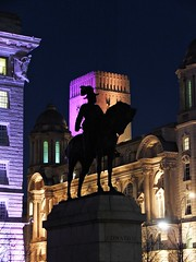 Party at the Pier Head! (lady.bracknell) Tags: liverpool pierhead threegraces cunardbuilding portofliverpoolbuilding merseytunnelventilationshaft edwardvii statue sculpture publicart