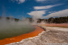 Champagne Pool (SarahO44) Tags: new zealand nz champagne pool waiotapu geothermal thermal wonderland hot spring steam mist canon 40d outdoor landscape rotorua waikato explore explored