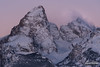 Teton Pre-Dawn (kevin-palmer) Tags: grandtetonnationalpark nationalpark grandteton tetonmountains glacierview wyoming winter december cold snow snowy clear nikond750 nikon180mmf28 telephoto pink wind windy gusty early morning sunrise dawn peak summit newyearseve
