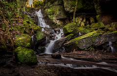 Just a little trickle. (Ian Emerson) Tags: lumsdale matlock derbyshire waterfall water rocks moss natural trees leaves canon hoya ndx400 outdoor landscape longexposure picturesque