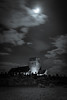 Eerie church (Bennett Photography - jonyb466) Tags: church chapel monument kenfig bridgend south wales glamorgan night black white moon light moonlight clouds sky old rectory castle grave graveyard cemetery photography long exposure slow shutter speed movement