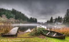 Afternoon Mist - Loch Ard (silverlarynx) Tags: scotland trossachs loch ard mist boat boathouse highlands