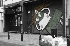 Blank page (ericbaygon) Tags: bruxelles brussel belgium belgie belgique page sheet street rue art artiste haïr cheveux d750 nikon nikonpassion bar volet fx shutter point peinture tag graffiti