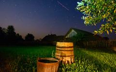 Wooden Barrels (free3yourmind) Tags: wooden barrel barrels grass nature house stars night sky falling star trees belarus berezino old times беларусь