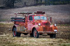 Old Timer (HTT) (13skies) Tags: truck firetruck fire old relic antique cool nostalgia strong work savedlives firestation pumper happytruckthursday singleshothdr hdr sonyalpha99 sony field highway5 wheels red past engine