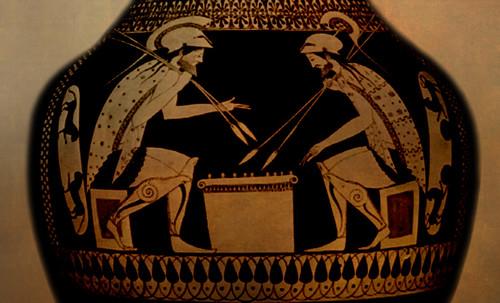 "Petteia - Ludus Latrunculorum  / Iconografía de las civilizaciones helenolatinas • <a style=""font-size:0.8em;"" href=""http://www.flickr.com/photos/30735181@N00/32522193155/"" target=""_blank"">View on Flickr</a>"