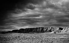 Pleated Mountains (Never Exceed Speed) Tags: blackandwhite scenery landscape moutains hills ridge utah