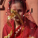 New Bride at the temple, Nepal